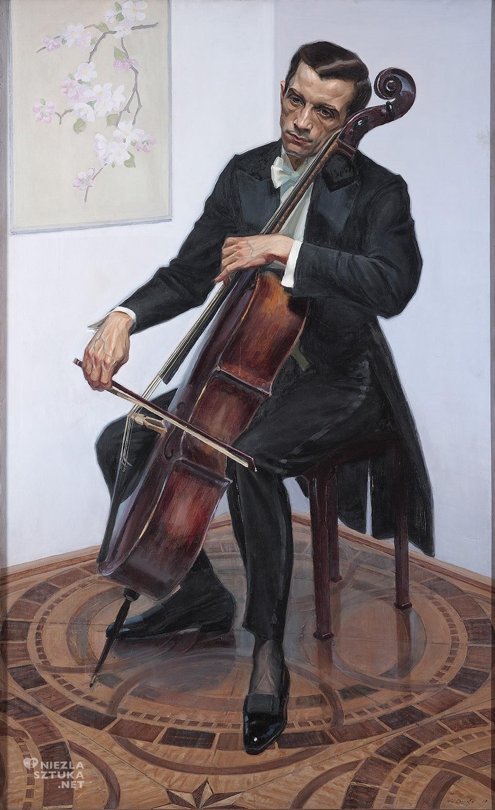Michał Czepita, Portret artysty muzyka Piotra Chmielewskiego, 1927, Muzeum Narodowe w
