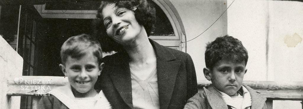 Zofia Stryjeńska z synami