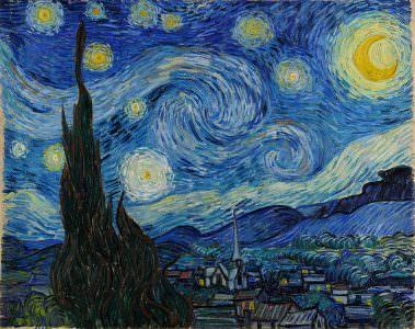 Vincent van Gogh, Gwieździsta noc, slajd