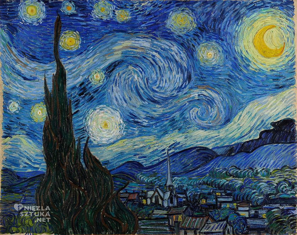 Vincent van Gogh, Gwiaździsta noc | 1889, Museum of Modern Art, Nowy Jork, Niezła sztuka