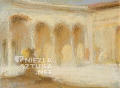 Wojciech Weiss Dziedziniec pałacu florenckiego