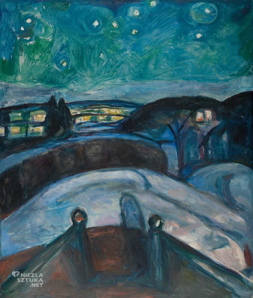 Edvard Munch, Gwiaździsta noc, malarstwo, Niezła Sztuka