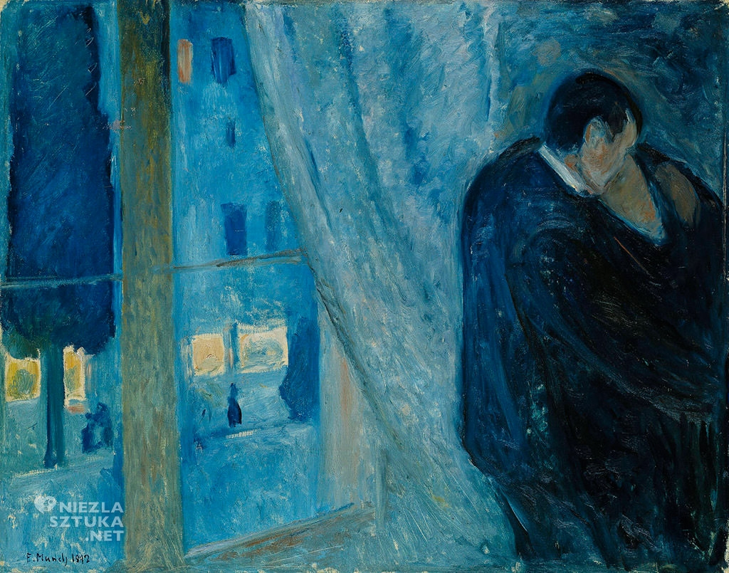 Edvard Munch, <em>Pocałunek</em>, 1882