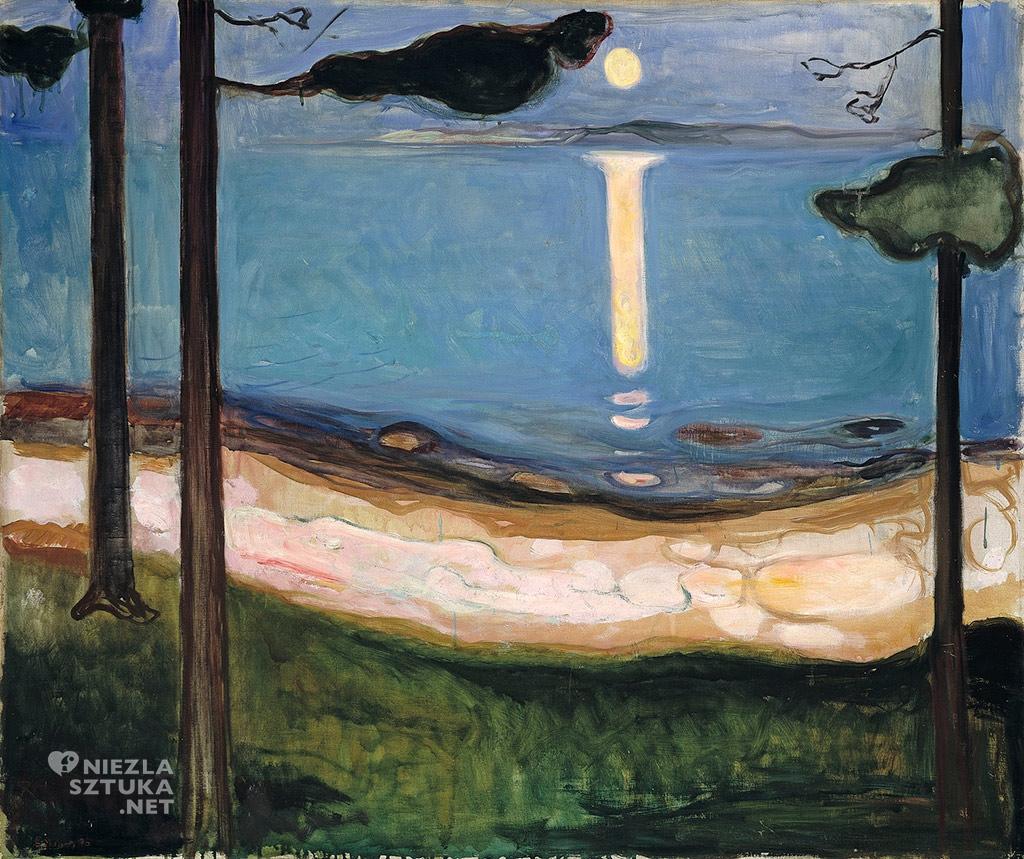 Edvard Munch, Światło księżyca, 1895