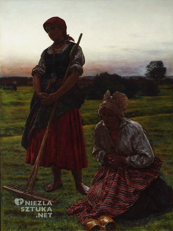 Aleksander Gierymski, Anioł Pański, Muzeum Narodowe w Warszawie, polska sztuka, Niezła sztuka