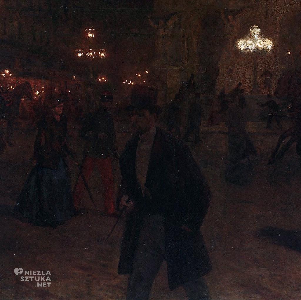 Aleksander Gierymski Opera paryska w nocy