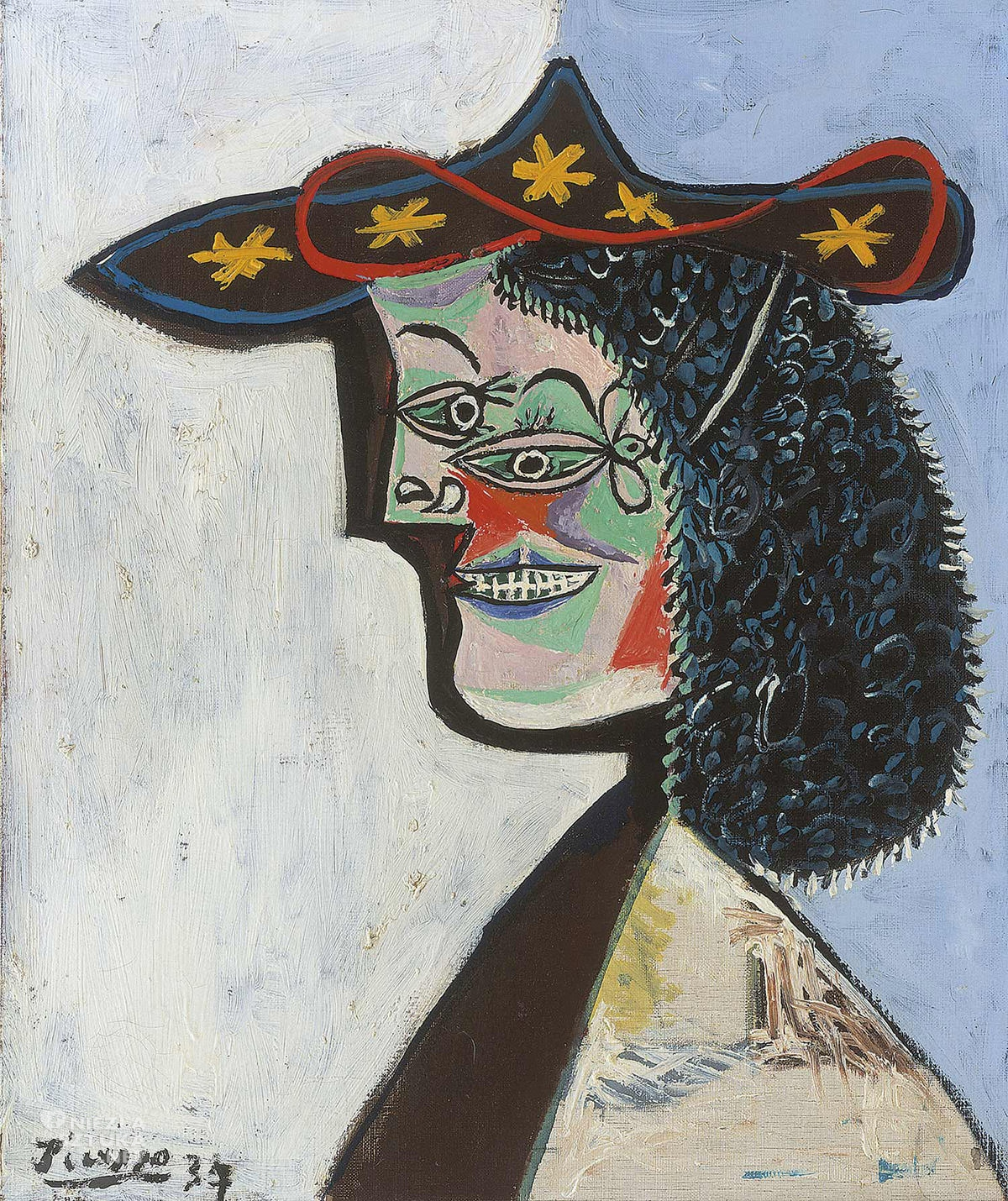 Pablo Picasso, muza, Nusch Eluard, obraz, portret, niezła sztuka