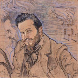 Stanisław Wyspiański Portret Henryka Opieńskiego, 1898, Muzeum Narodowe w Szczecinie, Niezła sztuka