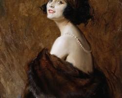 Tadeusz Styka, Portret Poli Negri,1922, Muzeum Narodowe w Warszawie