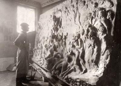 Gustav Vigeland w pracowni