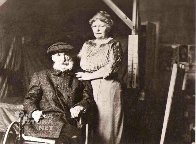 Renoir i Aline w pracowni
