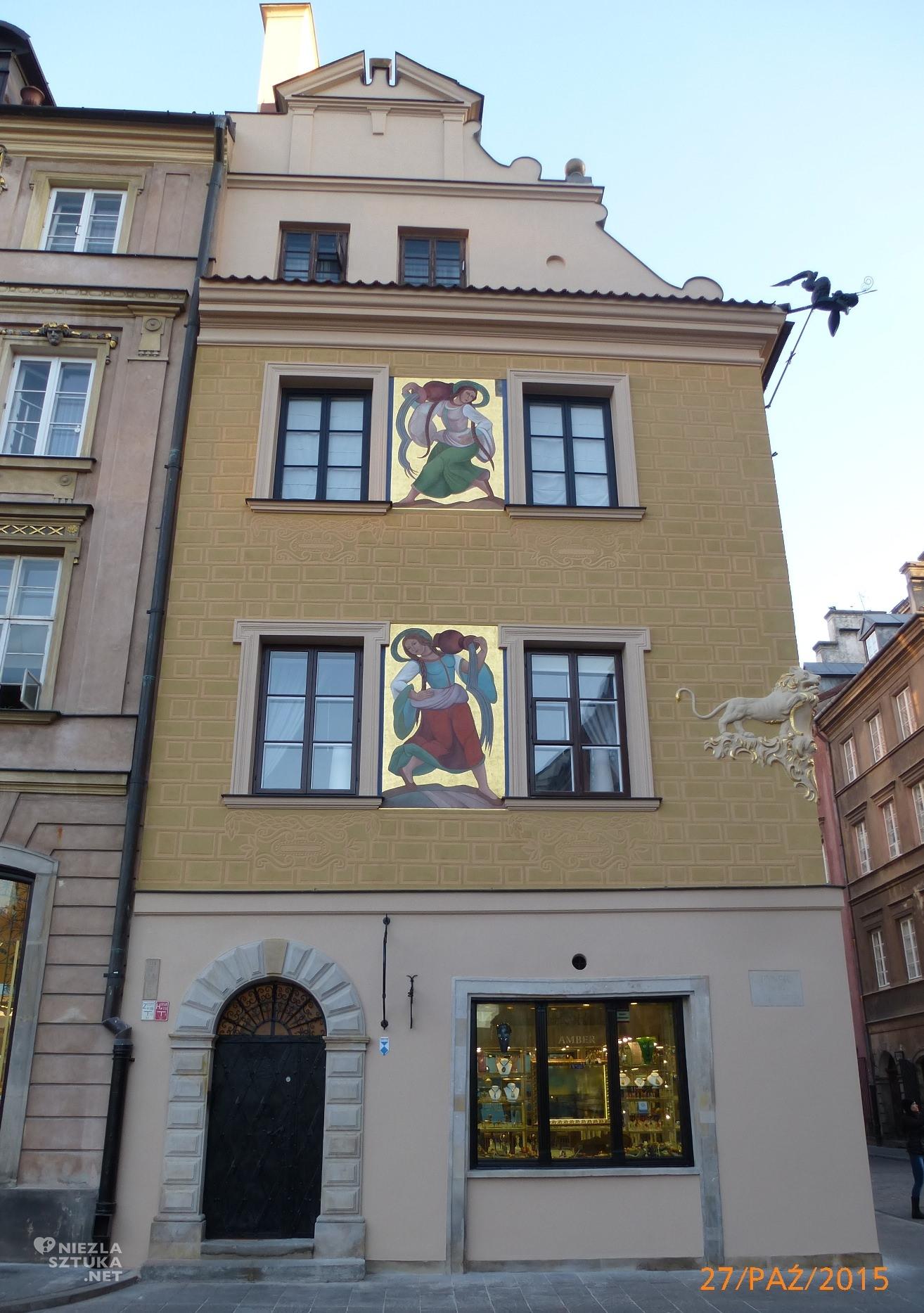 Kamienica pod lwem, Rynek Starego Miasta 13 z polichromiami Zofii Stryjeńskiej