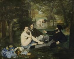 Édouard Manet Śniadanie na trawie, sztuka francuska, Musee d'Orsay, Paryż, niezła sztuka