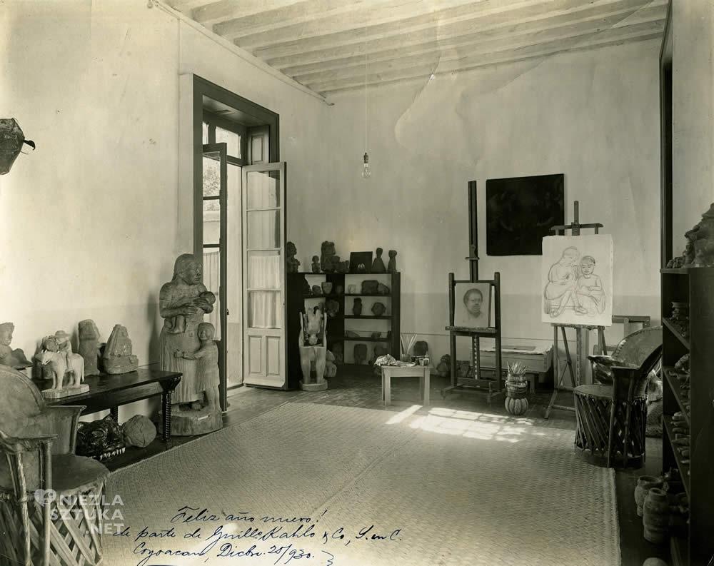 Frida Kahlo, pracownia, casa azul, niezła sztuka