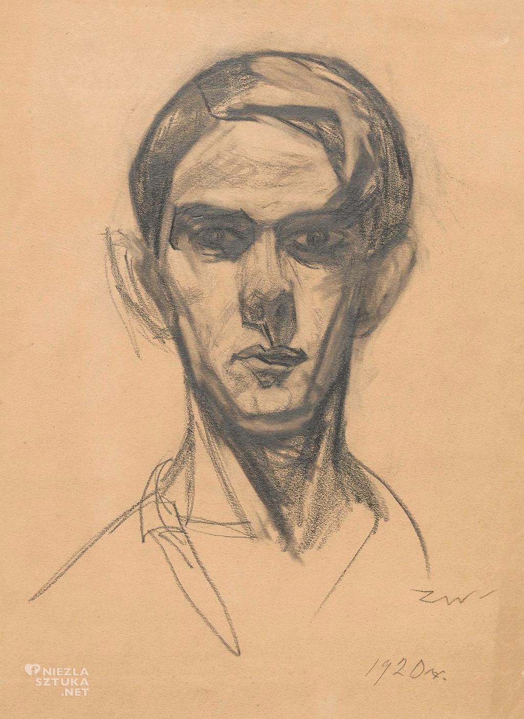 Zygmunt Waliszewski, Autoportret, rysunek, Niezła sztuka