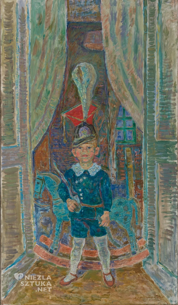 Zygmunt Waliszewski Chłopiec w czaku ułańskim (Portret Andrzeja Cybulskiego)
