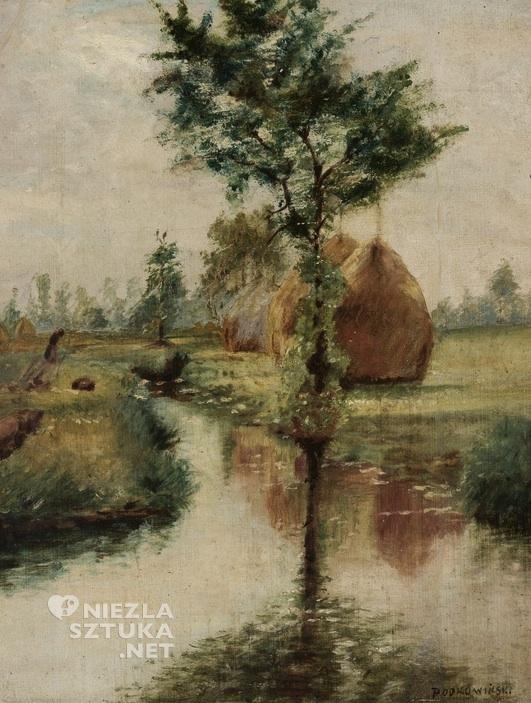 Władysław Podkowiński Stogi nad strumieniem Muzeum Narodowe w Warszawie