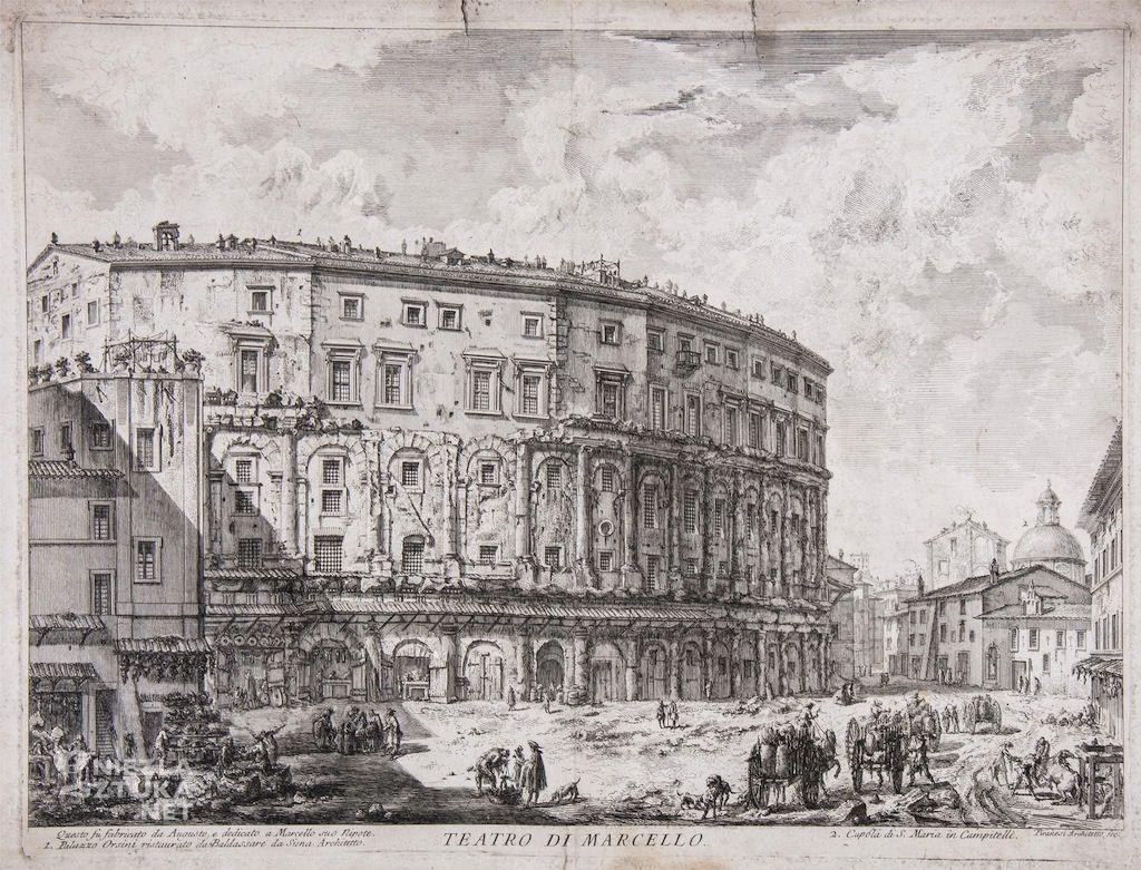 Giovanni Battista Piranesi Teatro di Marcello