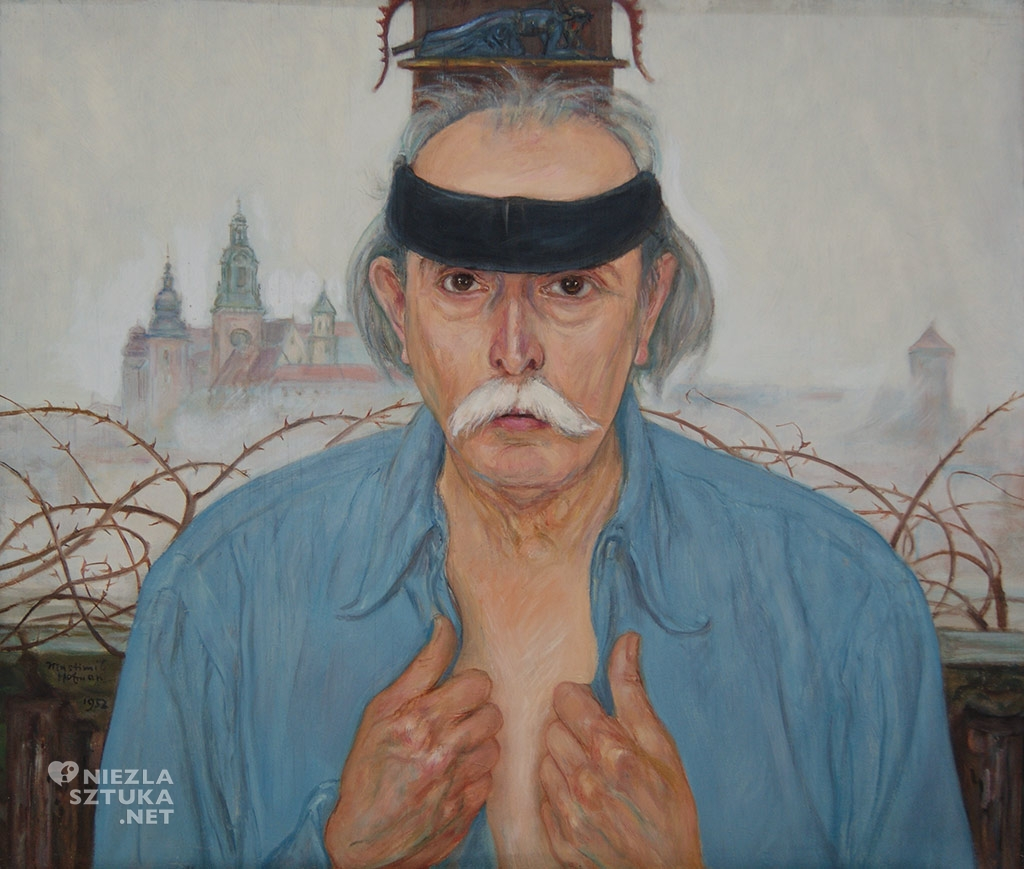 Wlastimil Hofman Autoportret, 1952, wł. Muzeum Karkonoskiego