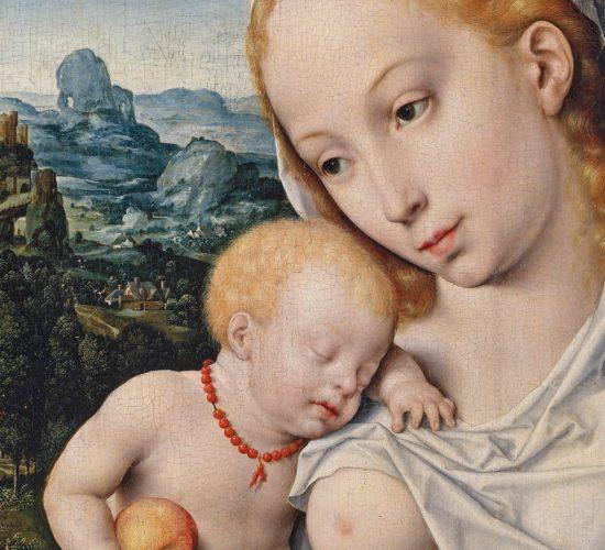 Joos-van-Cleve_Madonna-z-dzieciatkiem-detal