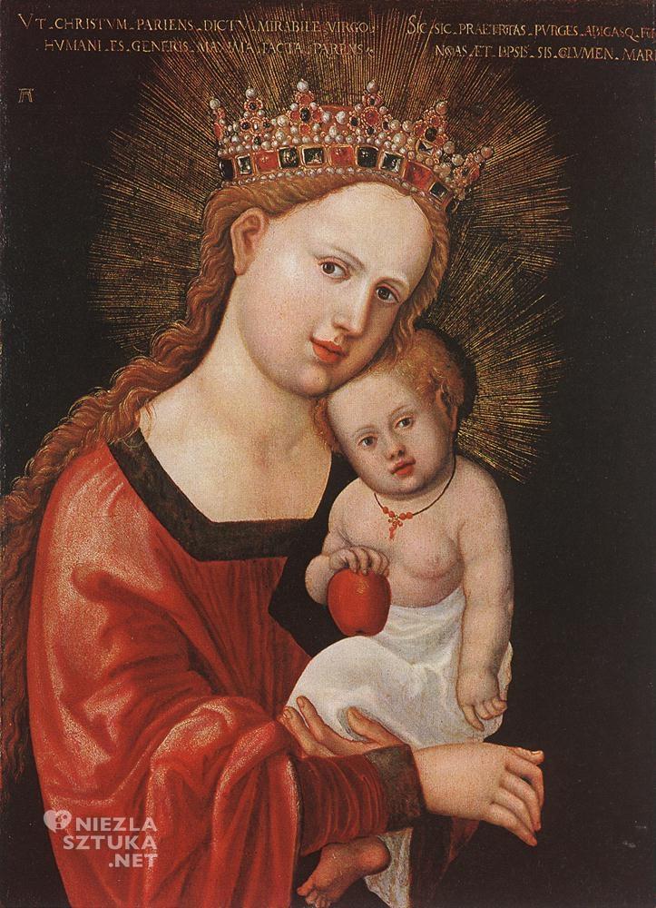 Albrecht Altdorfer Madonna z Dzieciątkiem