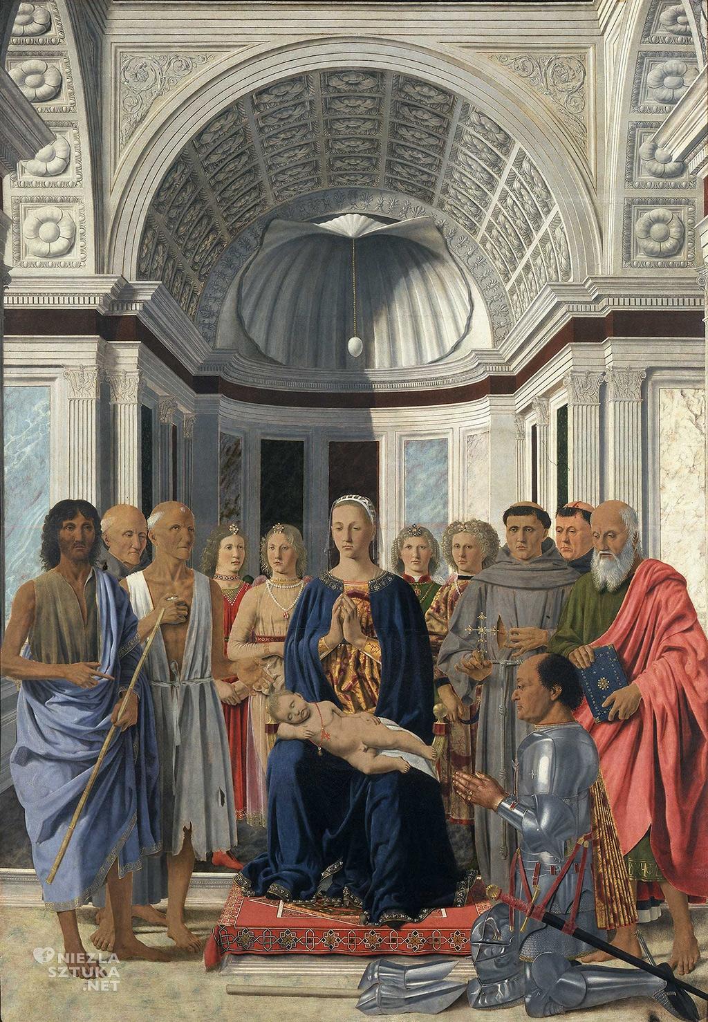 Piero della Francesca, Madonna z Dzieciątkiem w otoczeniu świętych, Sacra Conversazione