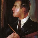 Gustaw Gwozdecki Autoportret z paletą