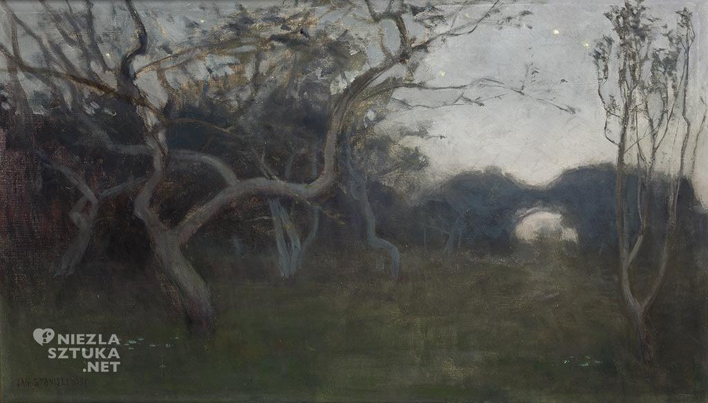 Jan Stanisławski, Zmrok, pejzaż, sztuka polska, malarstwo polskie, Niezła Sztuka