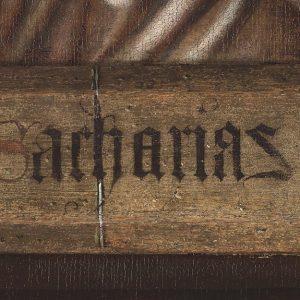 Zachariasz - Hubert i Jana van Eyck Ołtarz Gandawski, detal, poliptyk tablicowy, 350 × 500 cm, Katedra Świętego Bawona, Gandawa