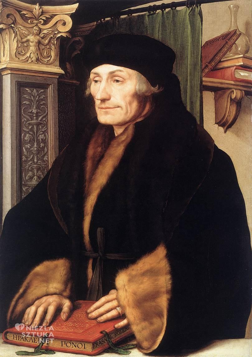 Hans Holbein Młodszy Portret Erazma z Rotterdamu   1523, National Gallery, Londyn