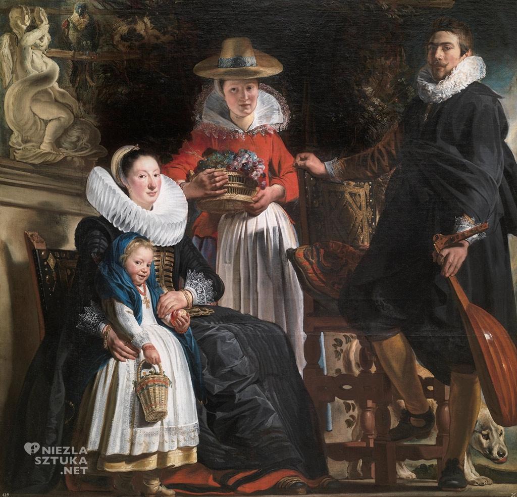 Jacob Jordaens Autoportret artysty z rodziną,amulety w sztuce