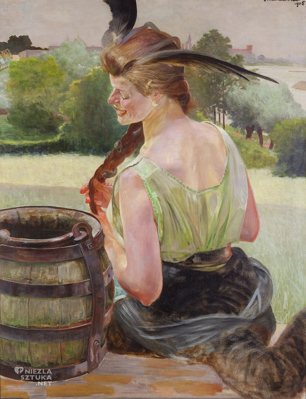 Jacek Malczewski, Zatruta studnia z chimerą | 1905, wł. Muzeum im. Jacka Malczewskiego w Radomiu