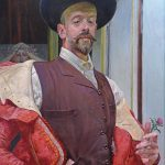 Jacek Malczewski, Autoportret z kwiatem ostu, sztuka polska, Niezła sztuka