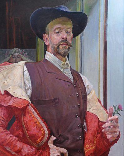 JAcek Malczewski Autoportret z kwiatem ostu, 1911, wł. prywatna, obecnie depozyt w Muzeum im. Jacka Malczewskiego w Radomiu, fot. P. Rogólski