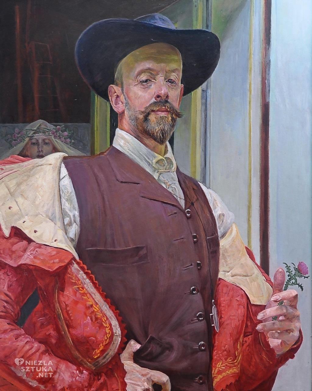JAcek Malczewski <em>Autoportret z kwiatem ostu,</em> 1911, wł. prywatna, obecnie depozyt w Muzeum im. Jacka Malczewskiego w Radomiu, fot. P. Rogólski
