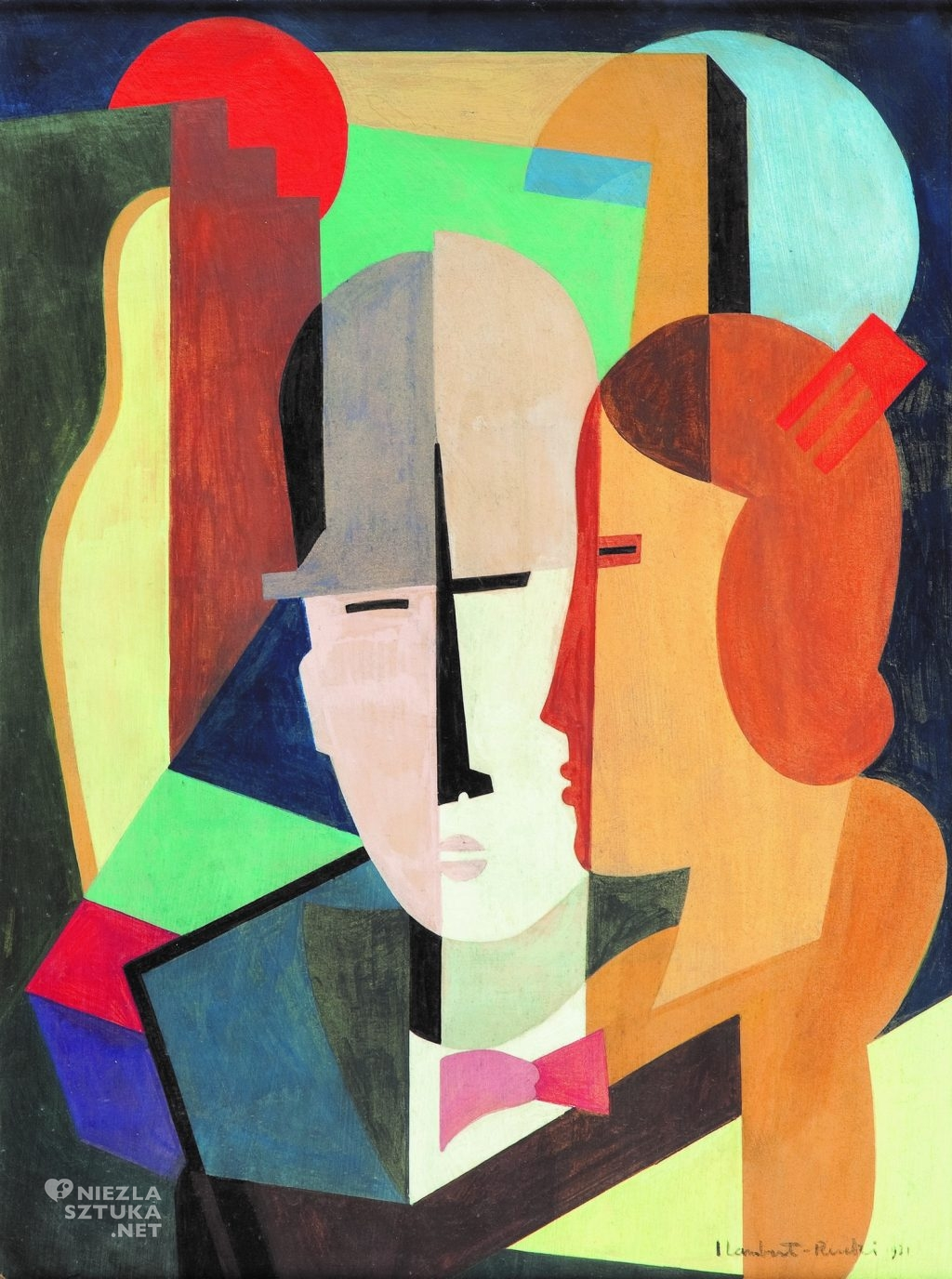 "Jean Lambert-Rucki, ""Para"", 1931, 48 x 36 cm, olej na płycie, fot. dzięki uprzejmości Villi la Fleur"