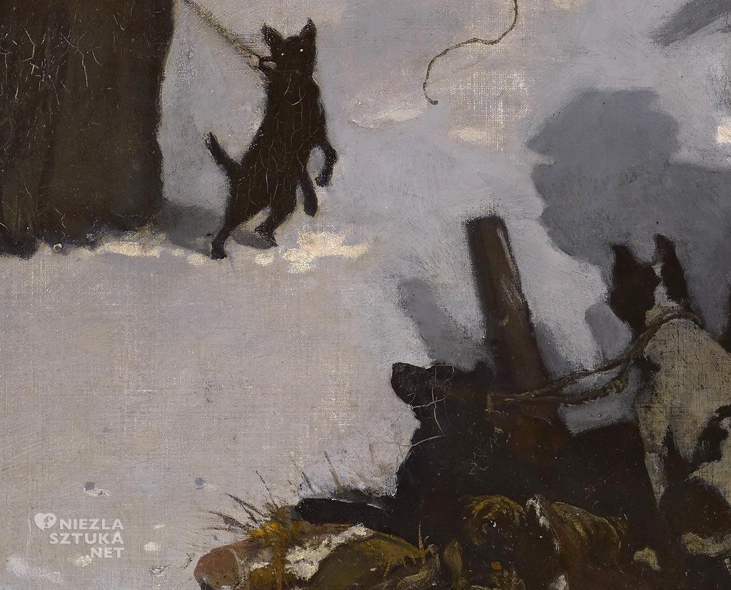 Józef Chełmoński, Noc księżycowa, Pałac w Radziejowicach, sztuka polska, malarstwo polskie, Niezła sztuka