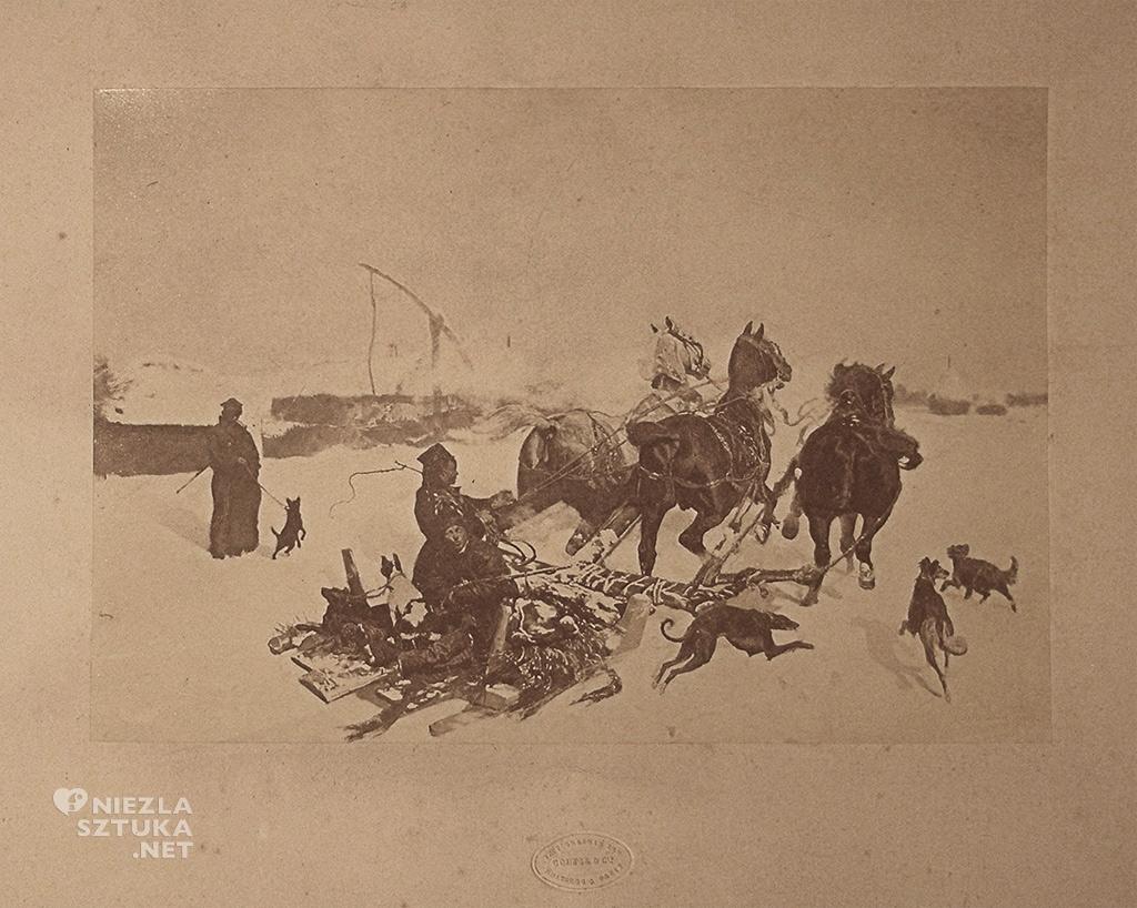 Józef Chełmoński, Noc księżycowa, fotografia, sztuka polska, malarstwo polskie, Niezła sztuka