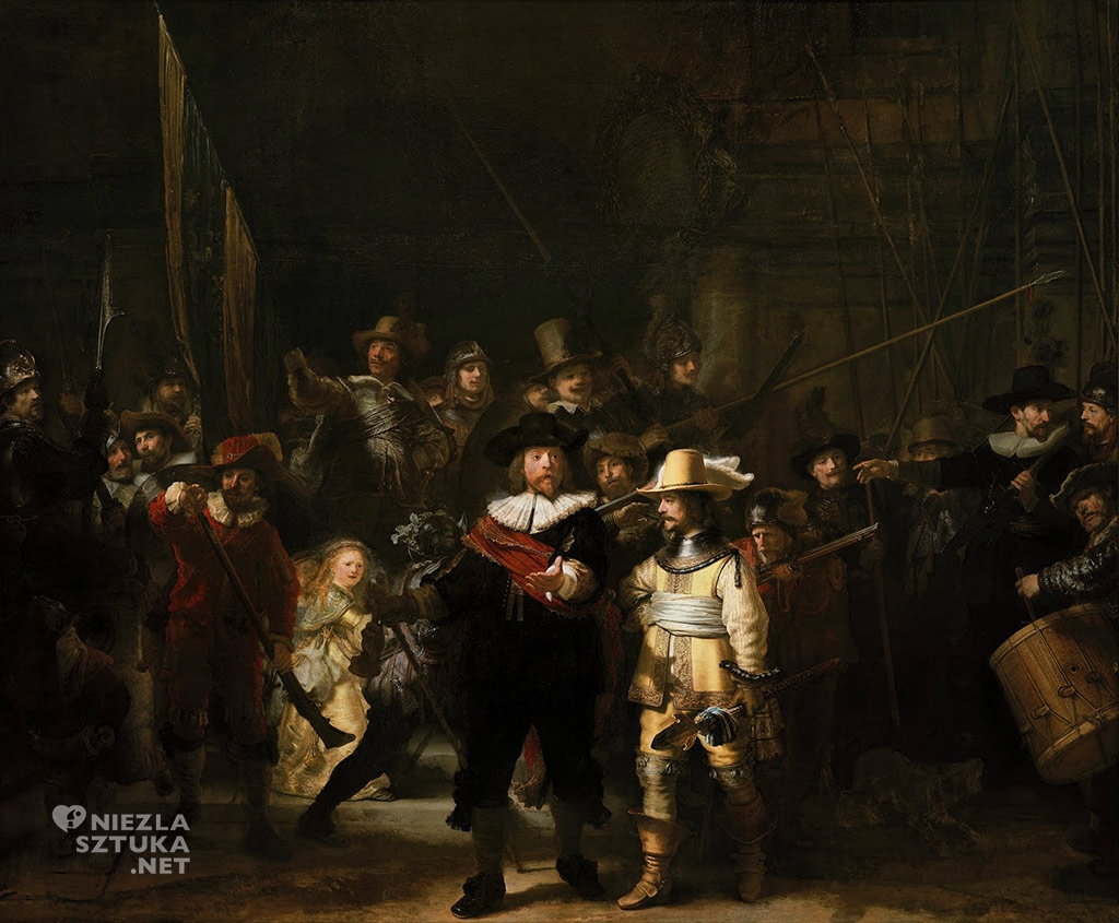 Rembrandt <em>Oddział kapitana Fransa Banninga Cocqa (Straż nocna)</em> | 1642