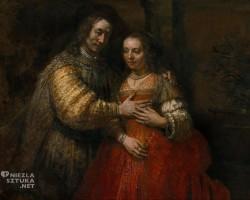 Rembrandt, Żydowska narzeczona, Rijksmuseum, Amsterdam, sztuka holenderska, Niezła sztuka