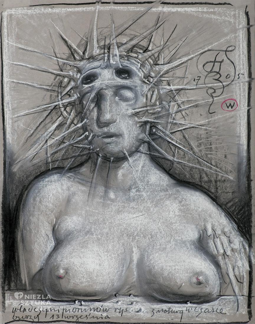 Franciszek Starowieyski, szkic, fot. pinterest