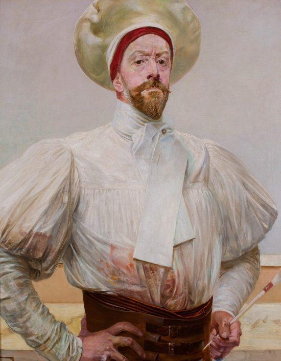 Jacek Malczewski, Autoportret w białym stroju, sztuka polska, Niezła sztuka
