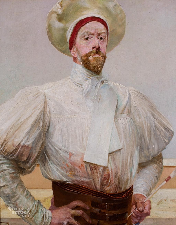 Jacek Malczewski <em>Autoportret w białym stroju</em> | 1914, olej na płótnie, 93 x 78, Muzeum Narodowe w Krakowie