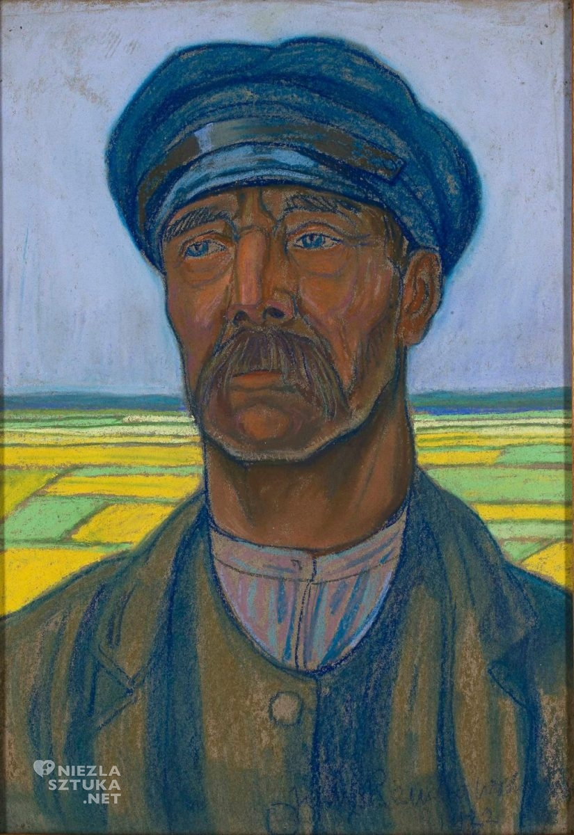 Jan Rembowski, Portret chłopa, 1922