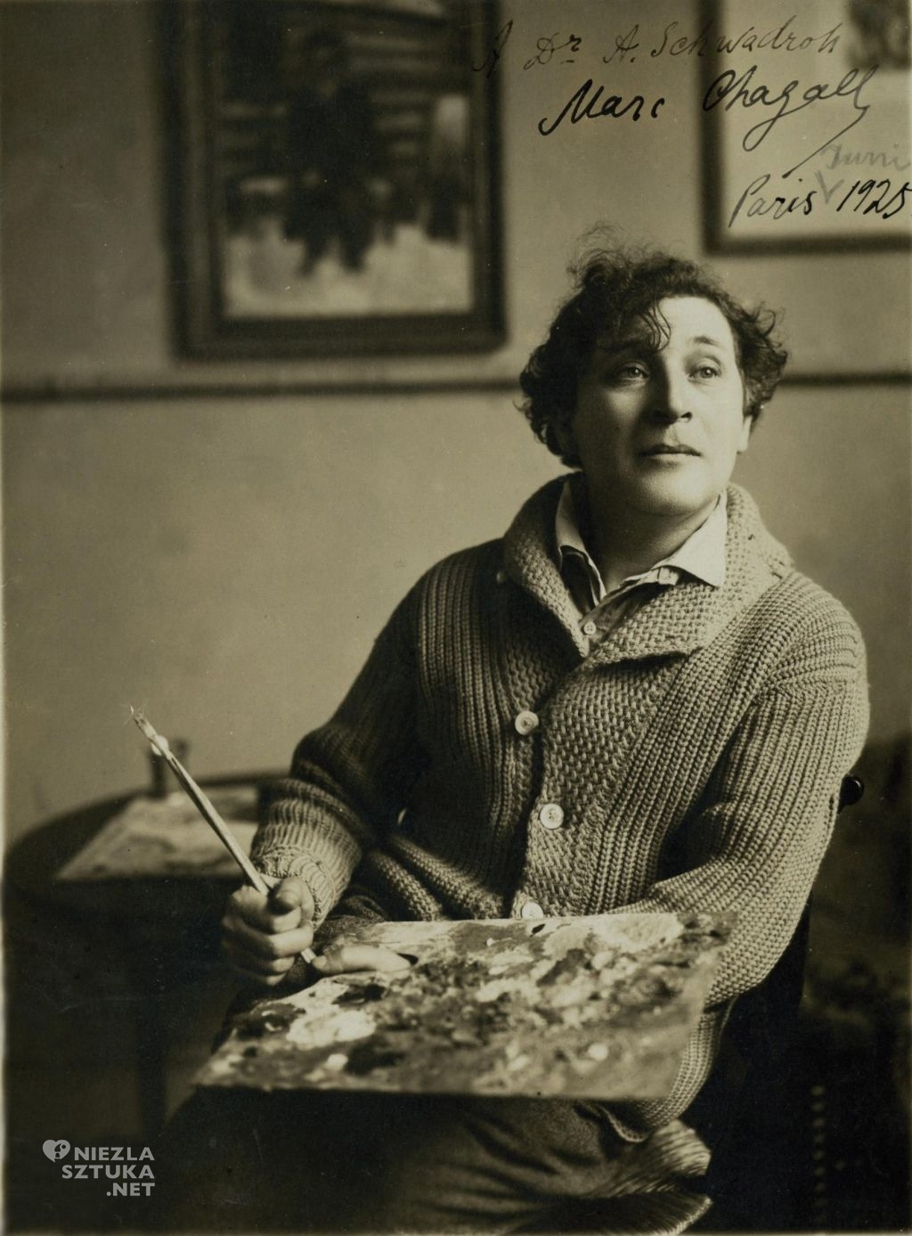 Marc Chagall | ok. 1920, Paryż, fot. Courtesy of the Jewish National University Library, źródło: segulamag.com