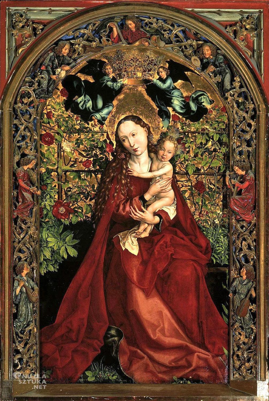 Martin Schongauer Madonna w Altanie Różanej   ok. 1473