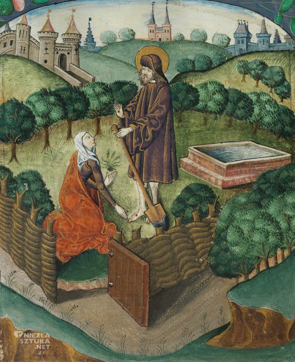 Autor nieznany Noli me tangere   ok. 1503-1504, National Library of Wales, Aberystwyth