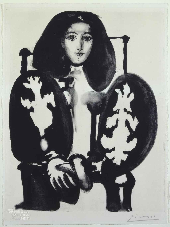 Pablo Picasso, Kobieta w fotelu, W polskim okryciu, kubizm, Niezła Sztuka
