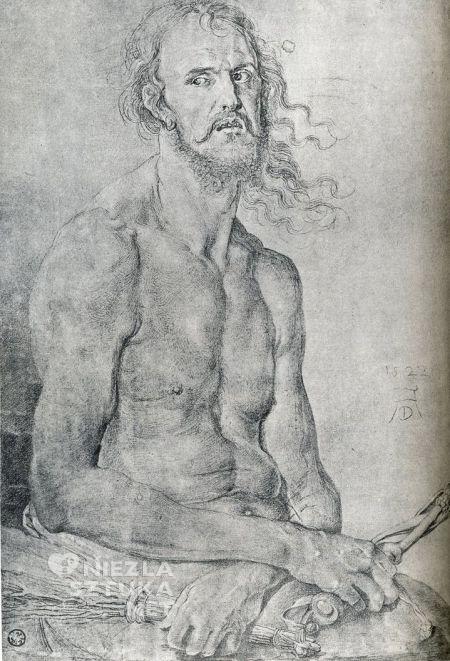 Albrecht Dürer Autoportret Mąż Boleści