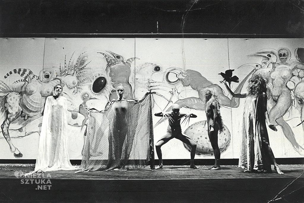 Franciszek Starowieyski projekt scenografii, dzięki uprzejmości żony artysty